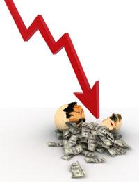 Stock market                           going down